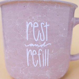Rest and Refill | Marble Campfire Coffee Mug