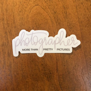 Photographer | Die Cut Vinyl Sticker