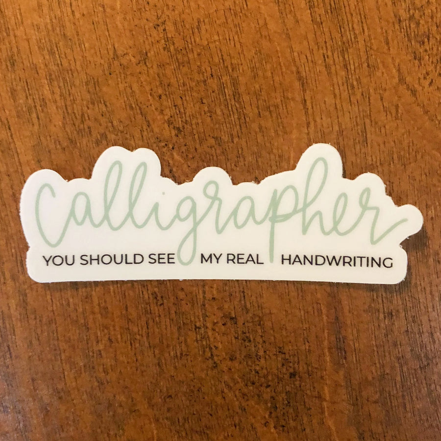 Calligrapher | Die Cut Vinyl Sticker