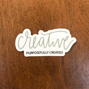Creative | Die Cut Vinyl Sticker