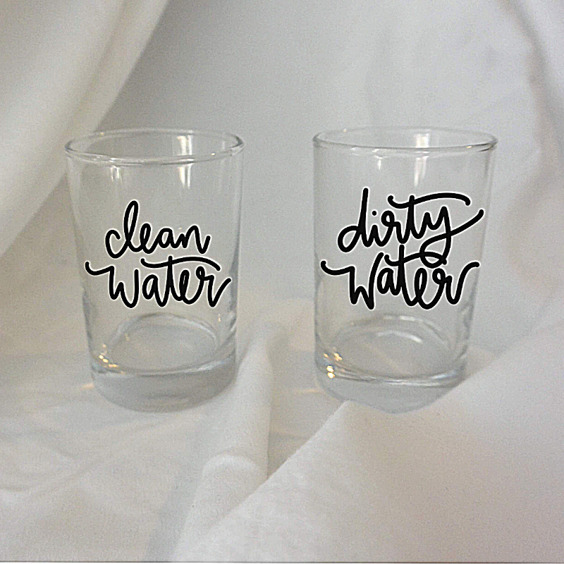 Clean & Dirty Water | Water Cup Set for Painting