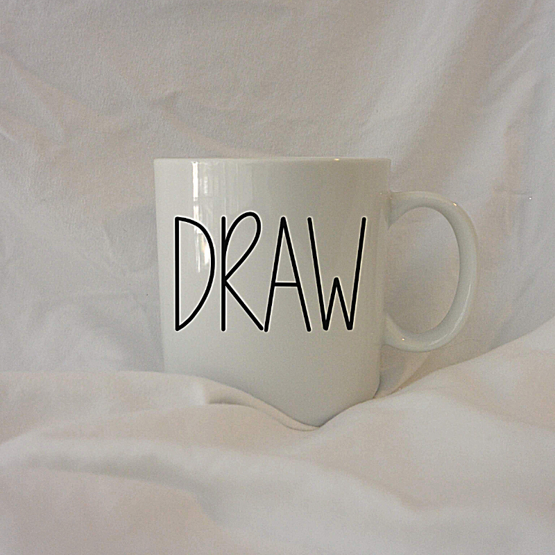 DRAW | 12 oz Coffee Mug