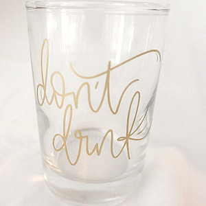 Don't Drink | Water Cup for Painting
