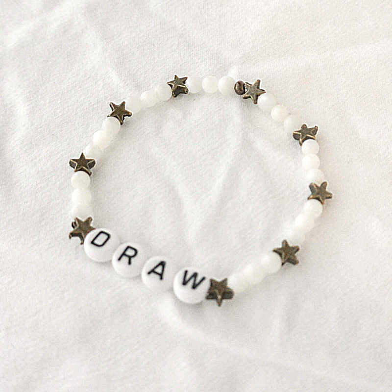The Stella | White and Brass Star Bracelet