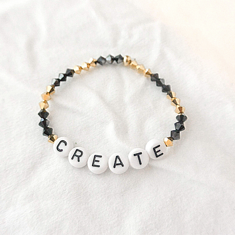 The Leo | Black and Gold Crystal Bracelet
