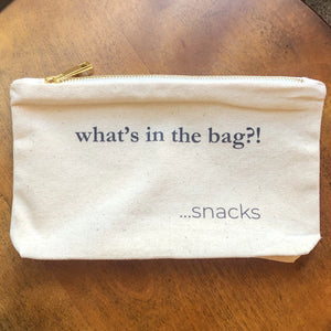 Snacks in the Bag | Canvas Snack Bag for Photographers