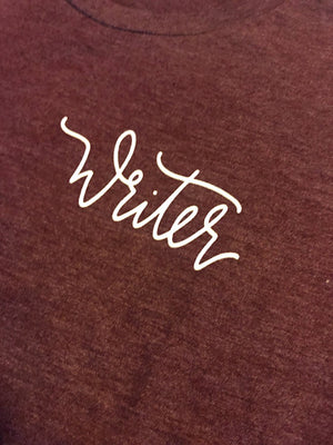The Writer | Maroon Jersey Tee