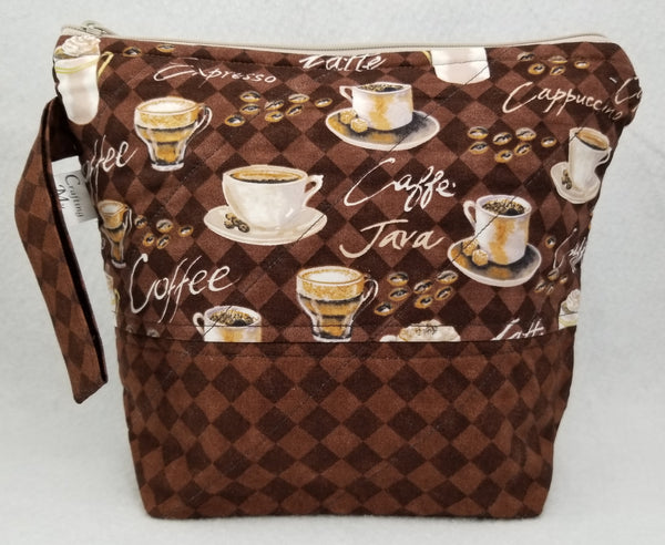 Caffe Java - Project Bag - Small - Crafting My Chaos