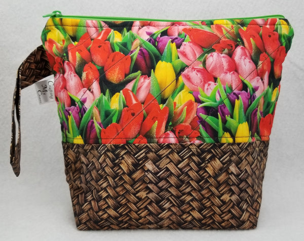 Basket of Tulips - Project Bag - Small - Crafting My Chaos