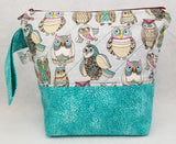 Teal Owls - Project Bag - Small