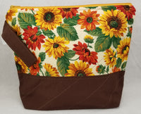 Sunflowers - Project Bag - Medium - Crafting My Chaos