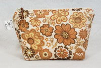 Brown Floral - Notions Bag - Crafting My Chaos