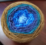 Blue Woods - Gradient - MS Sock 100 - Crafting My Chaos