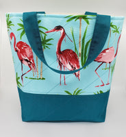 Flamingo - Quilted Bucket Bag - Large