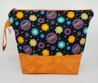 Retro Floral - Project Bag - Medium