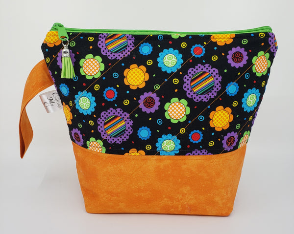 Retro Floral - Project Bag - Small