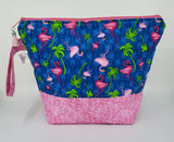 Pink Flamingos - Project Bag - Medium
