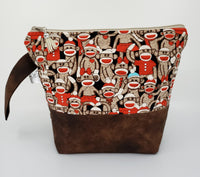 Sock Monkey - Project Bag - Small