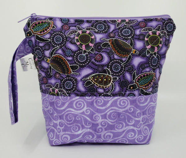 Turtles in Purple - Project Bag - Small