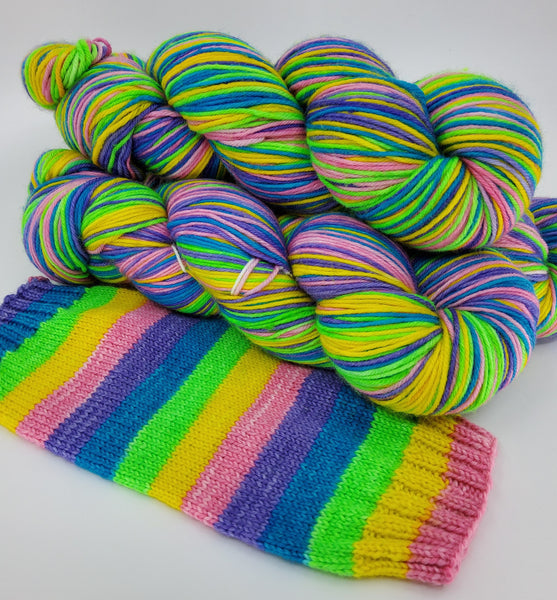 5 Rainbow Sherbet - Self-Striping - MS Sock 100