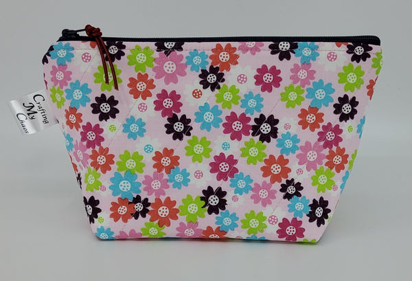 Colorful Mini Flowers - Notions Bag
