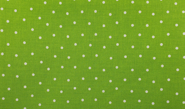 Polka Dots - Lime Green - Handmade Mask