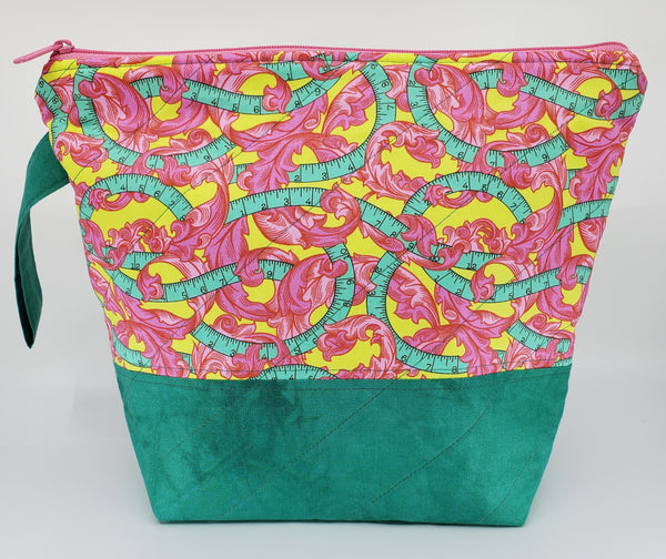 Fancy Pink Leaves - Project Bag - Medium