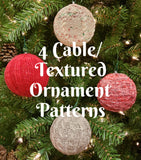 Chaos Ornament Sleeves - Cables/Textured - Knit
