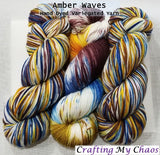 Amber Waves - Variegated Merlin 100 - Crafting My Chaos