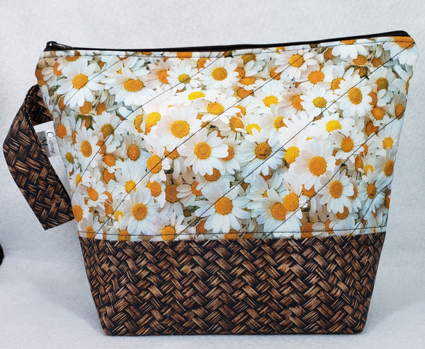 Basket of Daisies - Project Bag - Medium - Crafting My Chaos