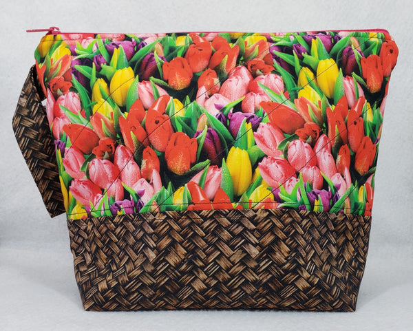 Basket of Tulips - Project Bag - Medium - Crafting My Chaos
