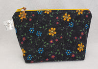 Black Flowers - Notions Bag - Crafting My Chaos