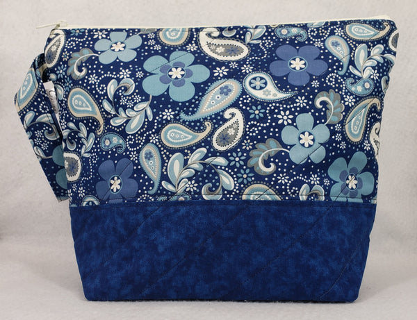 Blue Paisley - Project Bag - Medium