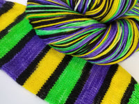 6+ Bourbon Street - Self-Striping - MS Sock 100 - Crafting My Chaos