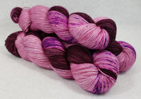 Burgundy Bliss - Speckle - MS Sock 100 - Crafting My Chaos