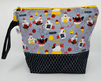 Chickens Knitting - Project Bag - Medium