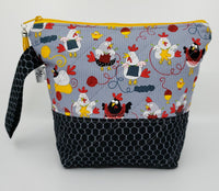Chickens Knitting - Project Bag - Small