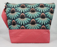Coneflowers - Project Bag - Medium - Crafting My Chaos