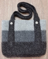 Everyday Bag - Felted Wool - Crochet