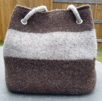 Anywhere I Go Tote - Felted Wool - Knit