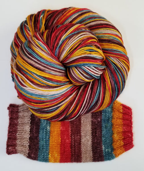 6 Fall Foliage - Self-Striping - MS Sock 100 - Crafting My Chaos