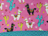 Festive Llamas - Project Bag - Medium