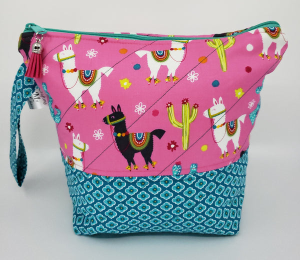 Festive Llamas - Project Bag - Small