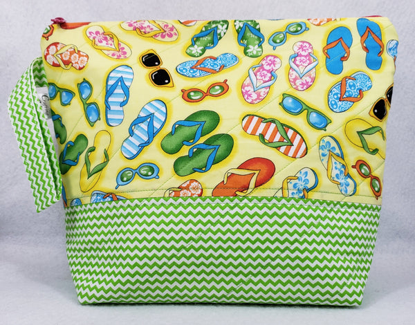 Flip Flops - Project Bag - Medium - Crafting My Chaos