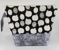 Fluffy Sheep - Grey - Project Bag - Medium
