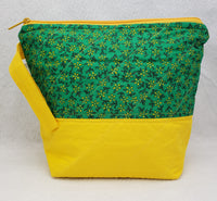 Green and Yellow - Project Bag - Small - Crafting My Chaos