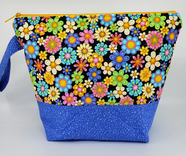 Happy Flowers - Project Bag - Medium