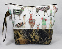 Llamas - Project Bag - Small - Crafting My Chaos