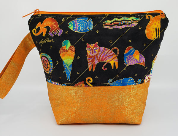 Orange Metallic Animals - Project Bag - Small