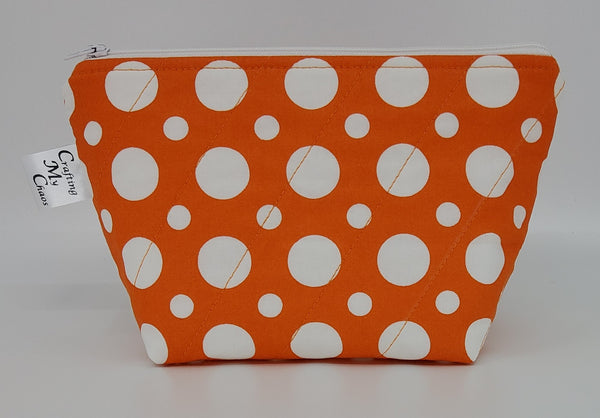 Orange Polka Dots - Notions Bag